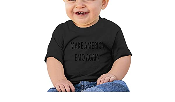 Make America Emo Again Toddler Short-Sleeve Tee for Boy Girl Infant Kids T-Shirt On Newborn 6-18 Months
