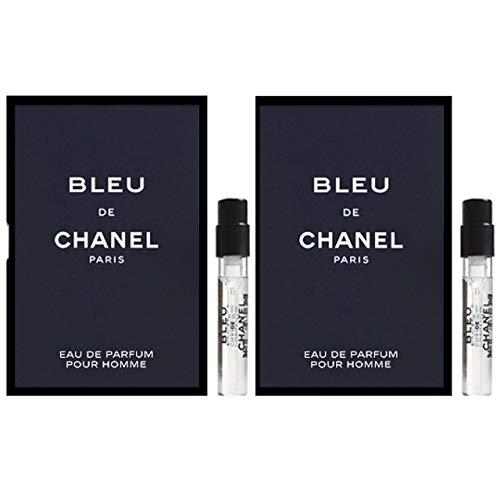 (BLEU DE C H A N E L Eau de Parfum Sample-Vials for Men, Lot of 2_1.5ml/0.05 fl oz. Eau de Parfum)