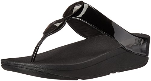 Fitflop Pierra, Chanclas para Mujer Negro (Nero)