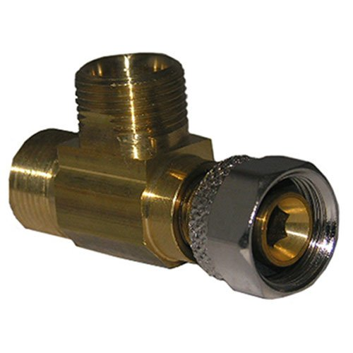 LASCO 06-9111 Angle Stop Add-A-Tee Valve, 3/8-Inch Compression Inlet X 3/8-Inch Compression Outlet X 3/8-Inch Compression Outlet, Brass (Water Supply Shut Off Valve)