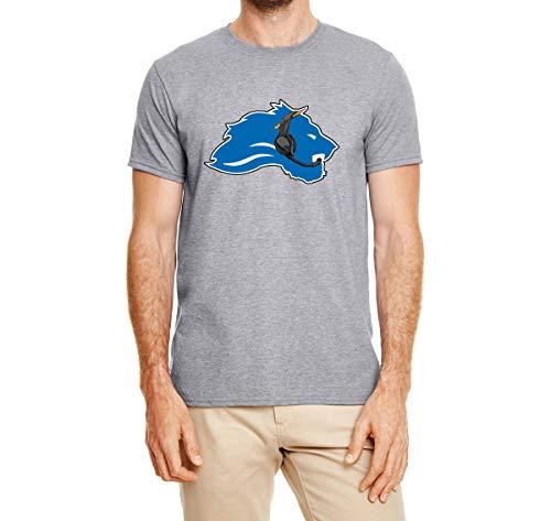 Tobin Clothing Gray Detroit Patricia Logo T-Shirt Adult Medium
