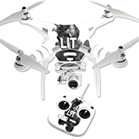 Skin For DJI Phantom 3 Standard – Lit | MightySkins Protective, Durable, and Unique Vinyl Decal wrap cover | Easy To Apply, Remove, and Change Styles | Made in the USA