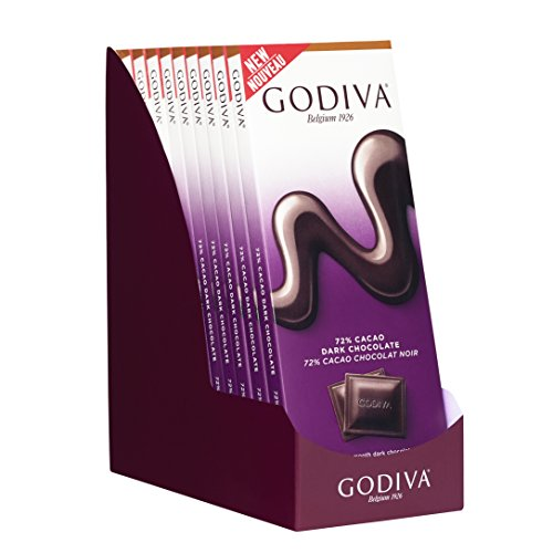 - Godiva Chocolatier 90g 72% Dark Chocolate Tablet Bar, 31.75 Ounce (Gift Pack of 10)
