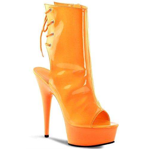 Pleaser - Botas para mujer Naranja naranja