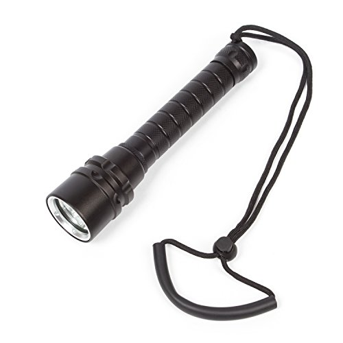 Powerful Uderwater Waterproof Led Scuba Diving Flashlight Torch 3600 LM Ultra Bright Cree L2 LEDs For Scuba Snorkeling Canoeing Fishing Hiking (Amazon Halloween Promo Code)
