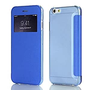 Faux Leather Flip Case with Plastic Back Cover & Screen Display Window for iPhone6 (Assorted Colors)