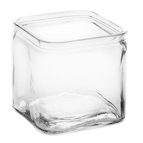American Metalcraft GJ40 Glass Jar, Square, 40 oz. by American Metalcraft