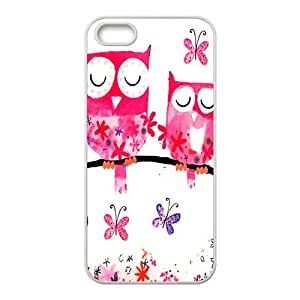 Happy Pink lovely owls Cell Phone Case for Iphone 5s