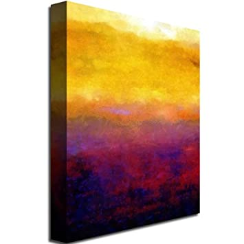Gold Ornate Frameen Sunset by Michelle Calkins, 18×24-Inch Canvas Wall Art