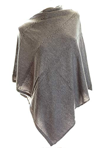 Exclusive Cashmere Poncho (Light Grey)