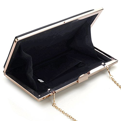 For Rhinestone Designer Women Purse Evening Wedding Wallet Handbag Party Black Clutch rwq8H6TwX