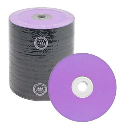 200 Spin-X Diamond Certified 48x CD-R 80min 700MB Purple Color Top Thermal by SpinX