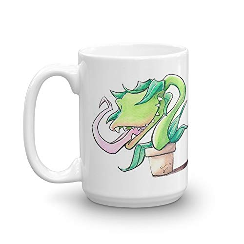 Little Shop of Horrors: Feed Me! (Audrey II) 15 Oz White Ceramic