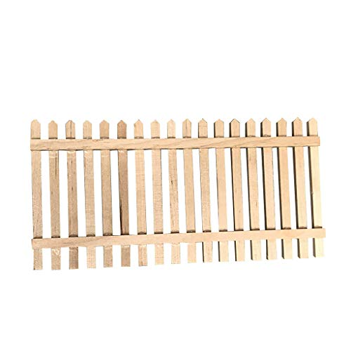 m·kvfa Miniature Wooden Fence Handrail 1:12 Mini Dollhouse Fence Life Play Scene Model Furniture Hand Crafts Birthday Gift for Boy Girl Adult DIY Your Own Doll House (B)