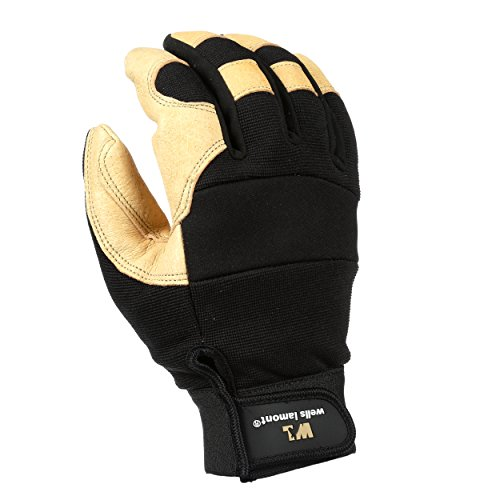- Men's Hi-Dexterity Leather Work Gloves, Ultra Comfort, Stretch Fit, Extra Large (Wells Lamont 3214XL)