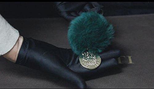FERETI Portachiavi pompom Verde pelliccia Coniglio decorazione di borsa