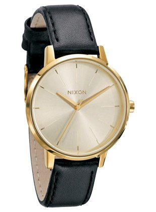Damenuhren schwarz gold leder  Nixon Kensington Leather Gold Damenuhr A108 501: Amazon.de: Uhren