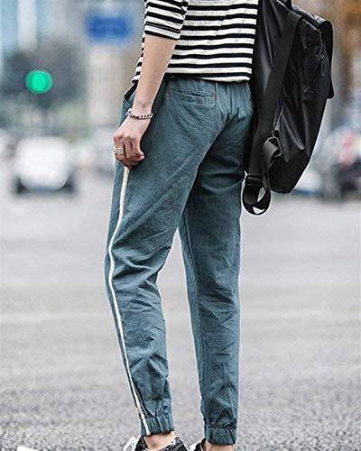 Serrage Apparence Hommes Droit Loisirs En Sarouel Style Avec Pour Cordon Lin De Pantalon Sarouels Simple Dunkelgrün Tissu Pantalons Nvfshreu wqRXagn