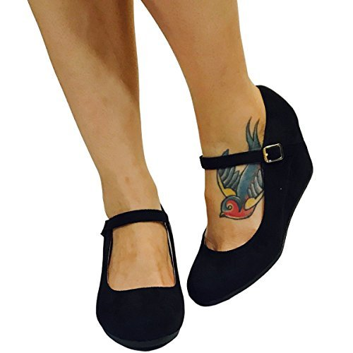 9baf84595bb HapHop Women s Premium Mary Jane Pump Wedge Dress Party Heel Shoes ...