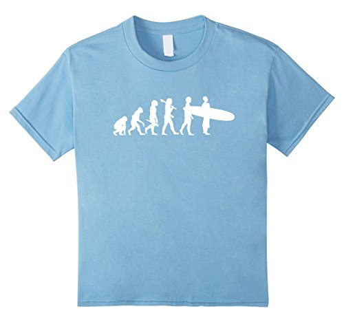 Kids Funny Surfing Shirt - Evolution Of A Surfer. 6 Baby - T-shirt Kids Evolution