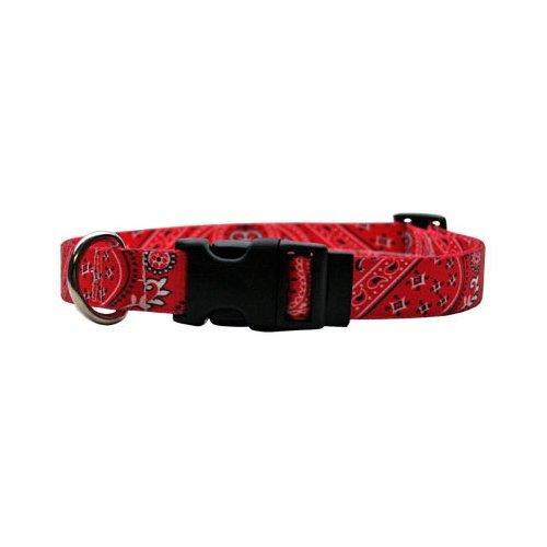 Red Bandana Dog Collar - Bandana Red Dog Collar - Size Large 18