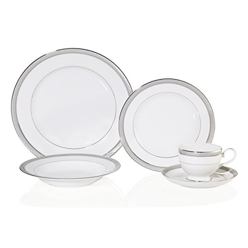 - Mikasa Platinum Crown 5-Piece Place Setting, Service for 1