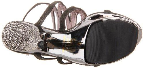 Pleaser Women's Deluxe-634RS/DGYS Platform Sandal Dark Grey Suede 36TfO2