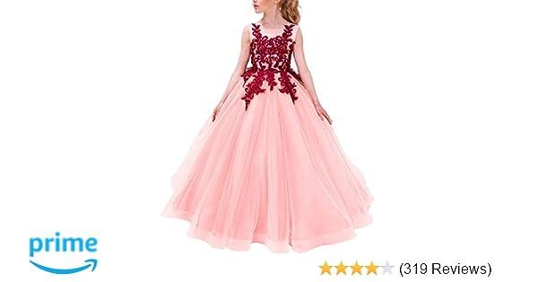 08125a0c2 Amazon.com  TTYAOVO Girls Pageant Ball Gowns Kids Chiffon ...