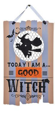 Wooden Hanging Halloween Signs ~ With Quotes (Good Witch) (Halloween Witch Quotes)