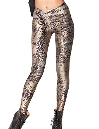 Pink Wind Women 3D Digital Printed Leggings Tights Stretch Pants (One Size, middle east)