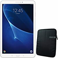 Samsung 10.1 Galaxy Tab A T580 16GB Tablet (White) SM-T580NZWAXAR + 10.1 Padded Case For Tablet Bundle