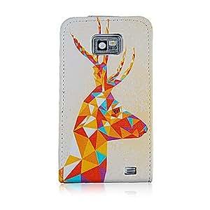 Modelo de la jirafa Head PU funda de piel de cuerpo completo para Samsung Galaxy S2 i9100