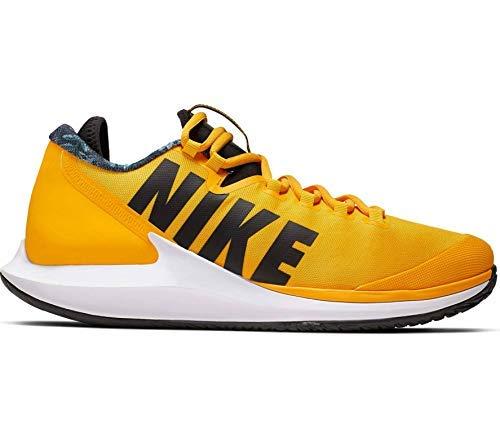 (Nike Nikecourt Air Zoom Zero Hc Mens Sneakers AA8018-700, University Gold/Black/White/Volt Glow, Size US 11)