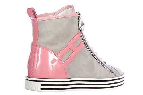 Hogan Rebel Damenschuhe Damen Wildleder Schuhe High Sneakers r182 rebel vintage