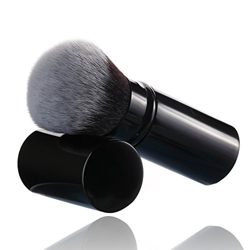 (Retractable Makeup Blush Brushes, Sinide Professional Kabuki Brush Set - Best Foundation Brush Travel Kit for Mineral Powder,Contouring, Cream or Liquid Cosmetics)