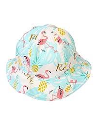 LANGZHEN Baby Unisex Sun Hat Breathable Wide Brim Outdoor Beach Bucket Hat