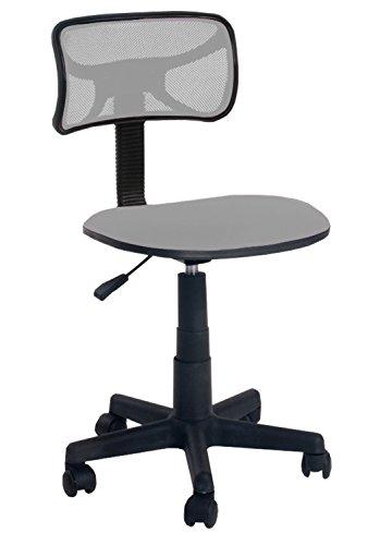 Urban Shop Swivel Mesh Task Chair, Silver