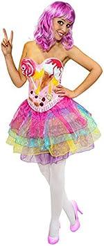 Candy Girl Pop Star para mujer Disfraz Pastel Multicolor: Amazon.es ...