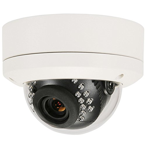 HDView (Business Series) 4MP Megapixel HD IP Network Camera POE WDR Wide Dynamic Range 3.6mm Lens 3-Axis Angle IR Infrared Dome ONVIF, VCA Intelligent Analytics by HDView