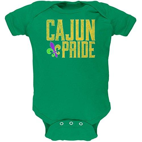 Old Glory Mardi Gras Cajun Pride Fleur De Lis Soft Baby One Piece Kelly Green 3 Month