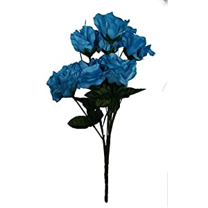 MM TJ Products Artificial Turquoise Roses Bouquet 77