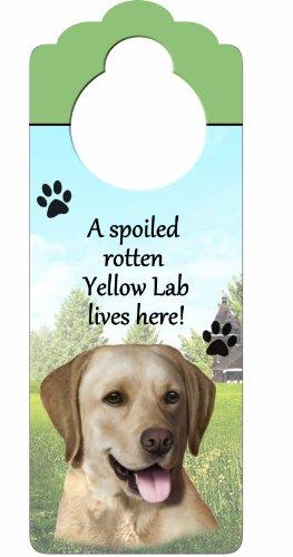 Yellow Labrador Wood Sign