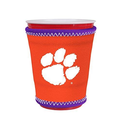 (Kolder NCAA Logo Coolie Kup Holder Sleeve Fitting Plastic Cups, Pint Glasses, Coffee Cups, Ice Cream, Etc. - Neoprene and Bottomless (Clemson Tigers))