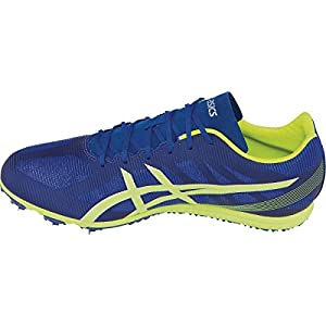 ASICS Men's Heat Chaser Track And Field Shoe,Deep Blue/Flash Yellow,13 M US