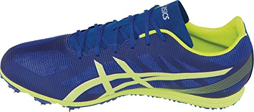 ASICS Men's Heat Chaser Track And Field Shoe,Deep Blue/Flash Yellow,9.5 M US