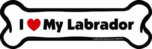 Imagine This Bone Car Magnet, I Love My Labrador, 2-Inch by 7-Inch