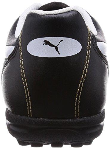 Puma Classico TT - zapatillas de fútbol de material sintético hombre negro - Schwarz (black-white-puma gold 01)