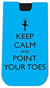 Rikki KnightTM Keep Calm and Point your Toes Sky Blue Ballet Design - Smart Phone Neoprene Protective Pouch for iPhone 4/4s/5/5s/5c, Motorola Moto X, Galaxy S3/S4/Note 3/Ace 2, LG Optimus Gpro/G2/L3/4X HD, Sony Xperia Z1S/U, HTC Droid/One/One X/Pro/mini, B