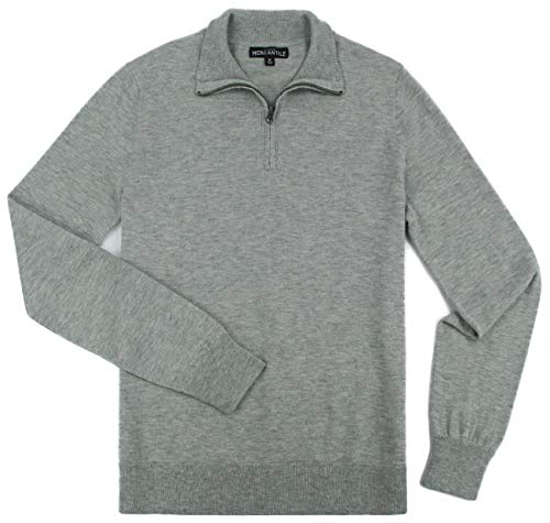 J. Crew - Men's - Slim-Fit Merino Blend Half-Zip Sweater (Multiple Size/Color Options) (Large, Heather Grey) ()