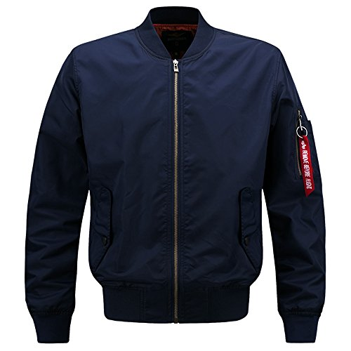 Navy Blue Flight Jacket - 5